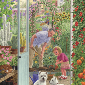 Through the Greenhouse Door 500 PC Jigsaw Puzzle