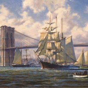 Violette Passing Brooklyn Bridge 2000 PC Jigsaw Puzzle