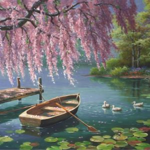 Willow Spring Beauty 500 PC Jigsaw Puzzle