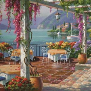 Wisteria Terrace 500 PC Jigsaw Puzzle