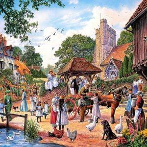 A Village Wedding 1000 PC Jigsaw Puzzle