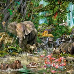 Afican Jungle 2000 PC Jigsaw Puzzle