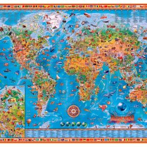 Amazing World Map 3000 pc Jigsaw Puzzle
