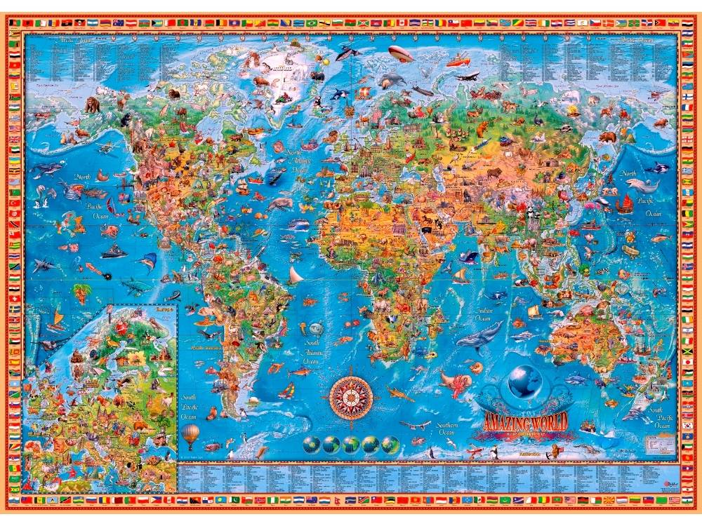 Jigsaw Puzzle - AMAZING WORLD MAP 3000 Pieces