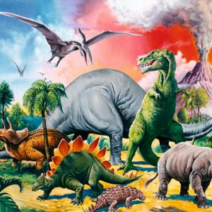 Among the Dinosaurs 100 XXL PC Jigsaw Puzzle