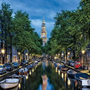 Amsterdam Canal at Dusk 1500 PC Jigsaw Puzzle