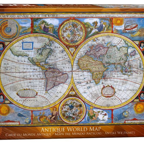 Antique world map 1000 piece jigsaw puzzle by eurographics antique world map 1000 pc jigsaw puzzle gumiabroncs Image collections