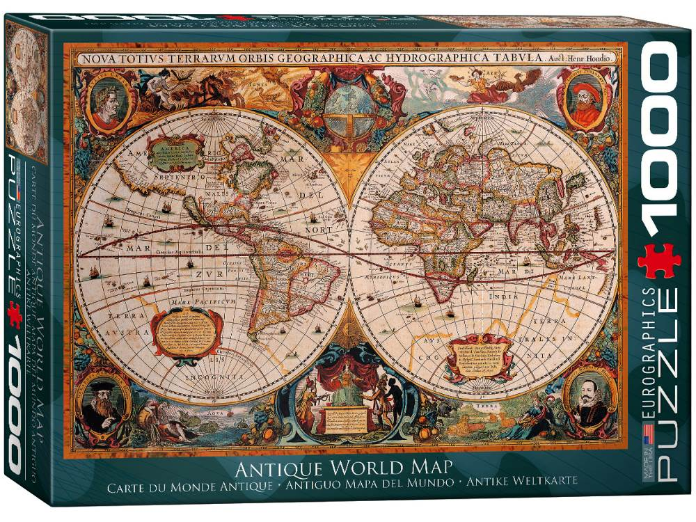 Jigsaw Puzzle - Antique World Map 1000 PC by Eurographics
