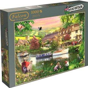 Around Britain Summer Haze 1000 PC Jigsaw Puzzle