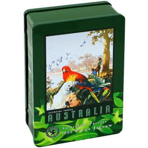Australian Parrots 1000 PC Jigsaw Puzzle in Tin