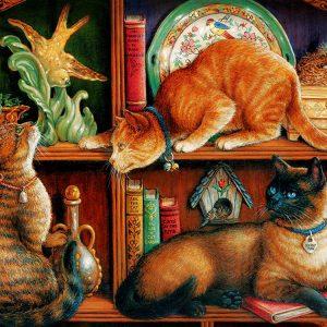 Cat Shelf 500 PC Jigsaw Puzzle