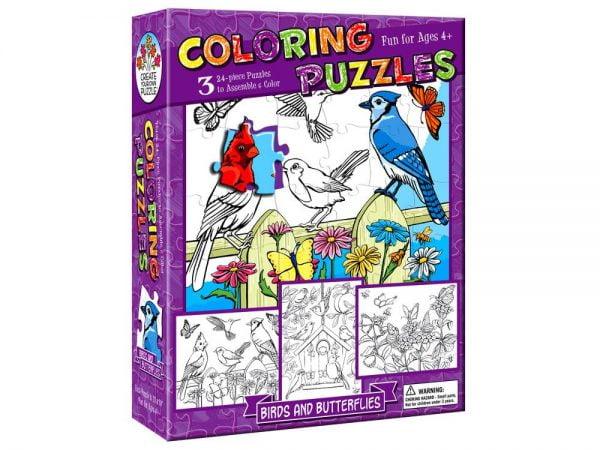 Colouring Puzzle Butterflies 3 x 24 PC