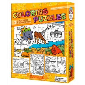 Colouring Puzzle Nature 3 x 24 PC
