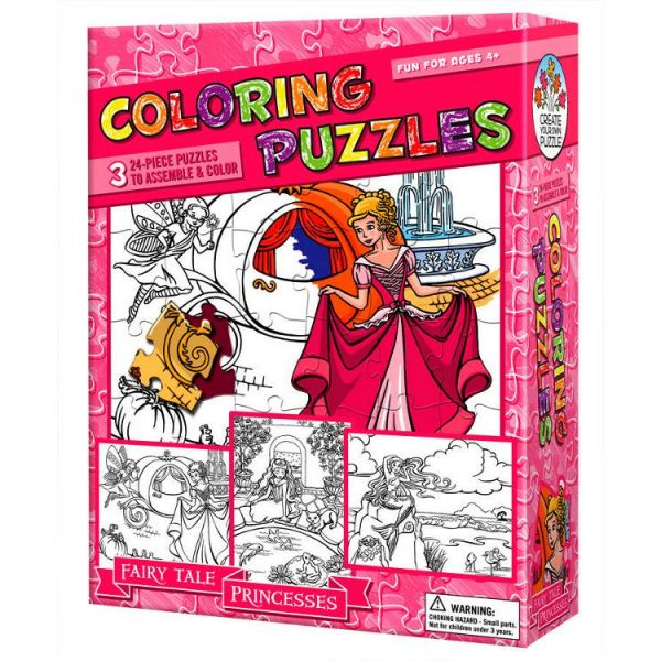 Colouring Puzzle Princesses 3 x 24 Pc