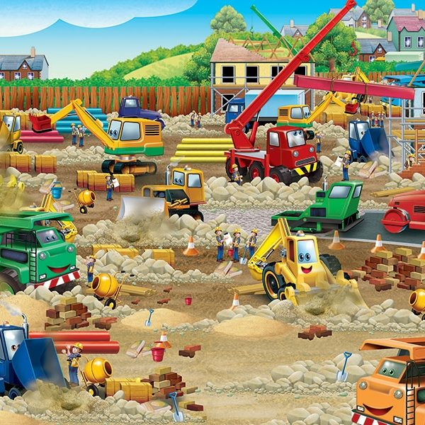 Construction Zone 36 Pc Floor Jigsaw Puzzle Puzzle