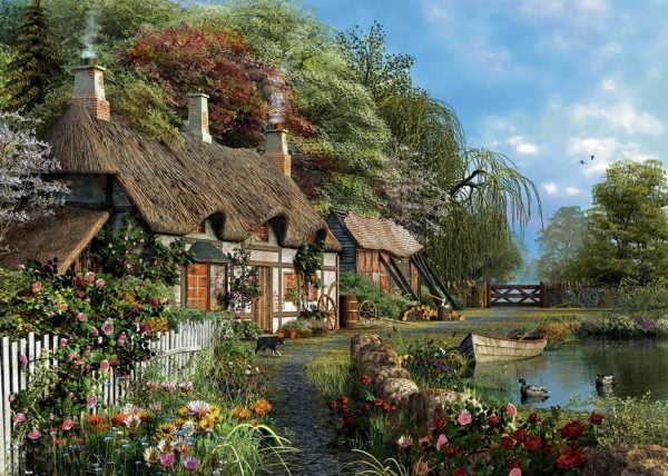 Cottage on a Lake 300 PC LGE Format Jigsaw Puzzle