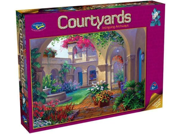 Courtyards - Intriguing Archways 500 Piece Jigsaw Puzzle - Holdson