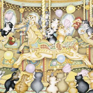 Crazy Cats Carousel 500 PC Jigsaw Puzzle