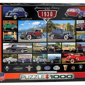Crusin Classics 1930s 1000 PC Jigsaw Puzzle