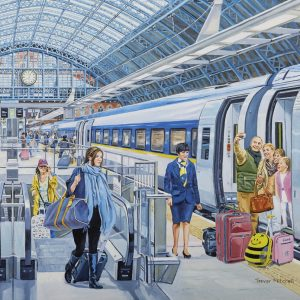 Eurostar at St Pancras 500 PC Jigsaw Puzzle