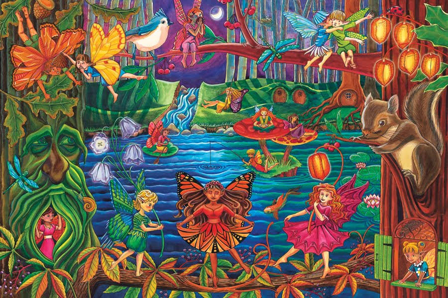 FAIRY FOREST 36 PC FLOOR JIGSAW PUZZLE - PUZZLE PALACE ...
