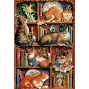Feline Bookcalse 2000 PC Jigsaw Puzzle