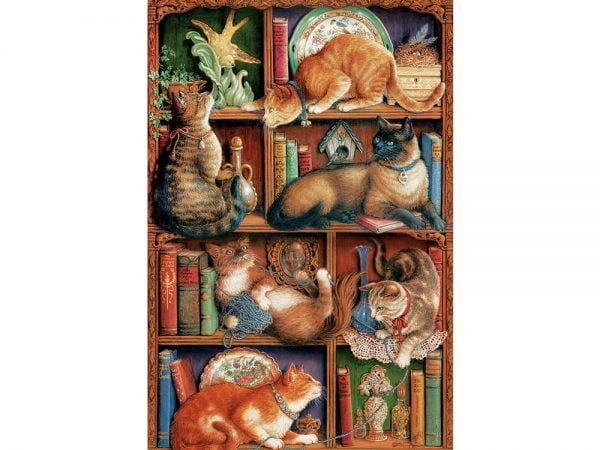 Feline Bookcalse 2000 PC Jigsaw Puzzle
