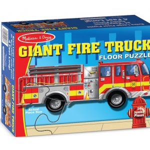 Giant Fire Truck 24 PC Floor Jigsaw Puzzle