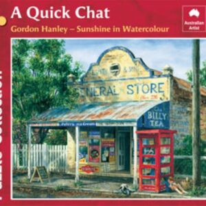 Gordon Hanley - A Quick Chat 1000 Piece Puzzle - Blue Opal