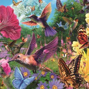 Hummingbird Garden 1500 Piece Jigsaw Puzzle
