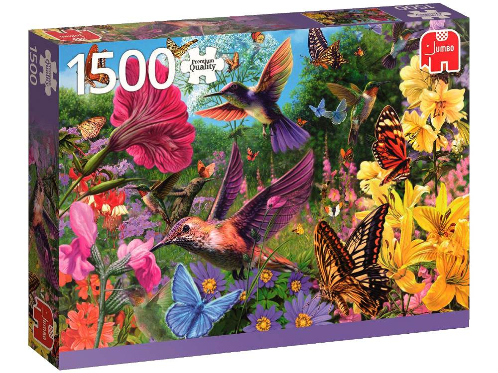jigsaw puzzle hummingbird garden 1500 pc by jumbo. Black Bedroom Furniture Sets. Home Design Ideas