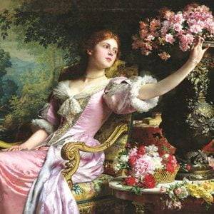 Lady with flowers 2000 PC Jigsaw Puzzle