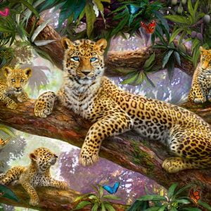 Leopard Family 1000 PC Jigsaw Puzzle