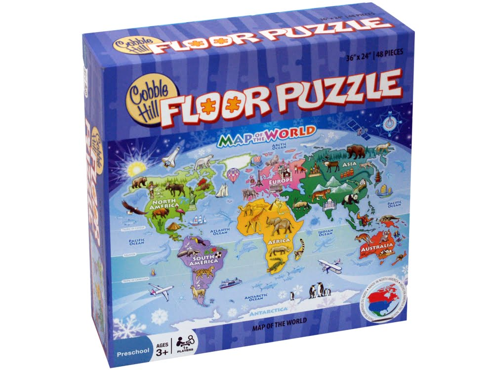 Map of the world 48 pc floor jigsaw puzzle puzzle palace australia map of the world 48 pc floor jigsaw puzzle gumiabroncs Choice Image