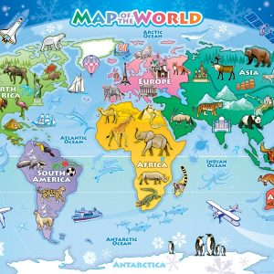 Map of the World 48 PC Floor Jigsaw Puzzle