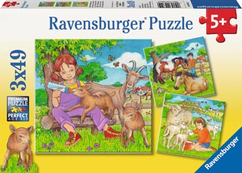 My Favourite Animals 3 x 49 PC Jigsaw Puzzle