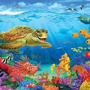 Ocean Reef 36 PC Floor Jigsaw Puzzle