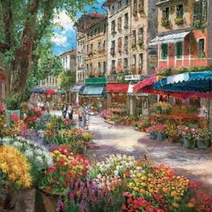 Paris Flower Market 1000 PC Jigsaw Puzzle
