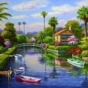 Private Docks 1 2000 PC Jigsaw Puzzle