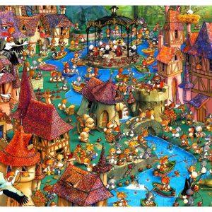 Ruyer Bunnytown 1000 PC Jigsaw Puzzle