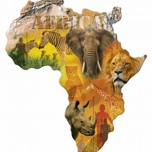 Silhouette Africa 1114 PC Jigsaw Puzzle