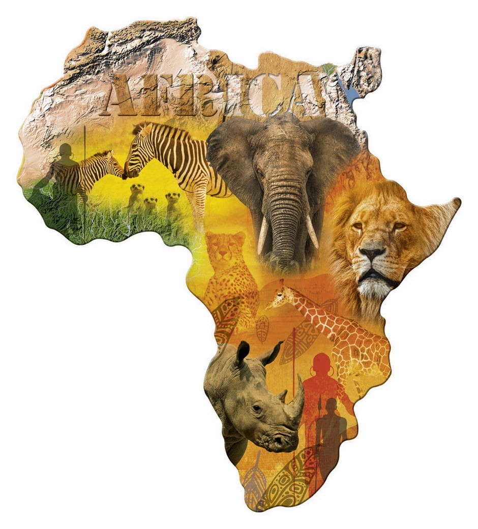 Jigsaw Puzzle Silhouette Africa 1114 Pc By Ravensburger