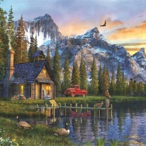 Sunset Cabin 1000 PC Jigsaw Puzzle