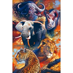 The Big Five 1500 PC Jigsaw Puzzle