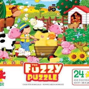 Fuzzy Puzzle On the Farm 24 PC