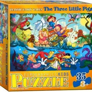 Three Little Pigs 35 PC Jigsaw puzzle
