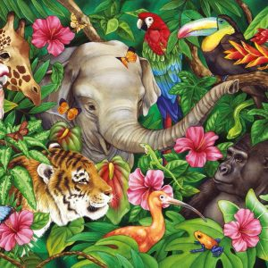 Tropical Friends Puzzle 60 PC Jigsaw Puzzle