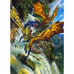 Waterfall Dragons 1000 PC Jigsaw Puzzle