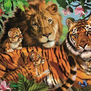 Wild Cats 1000 Piece Jigsw Puzzle - Jumbo