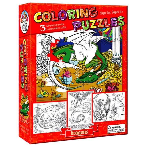 colouring Puzzle Dragons 3 x 24 PC
